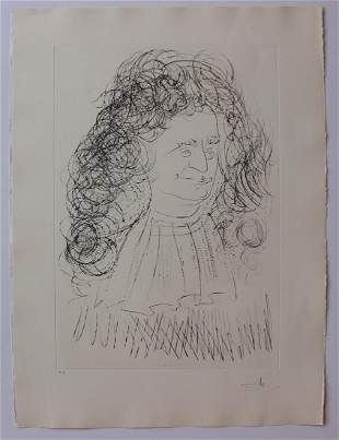 Salvador Dali Le Portrait de La Fontaine Original