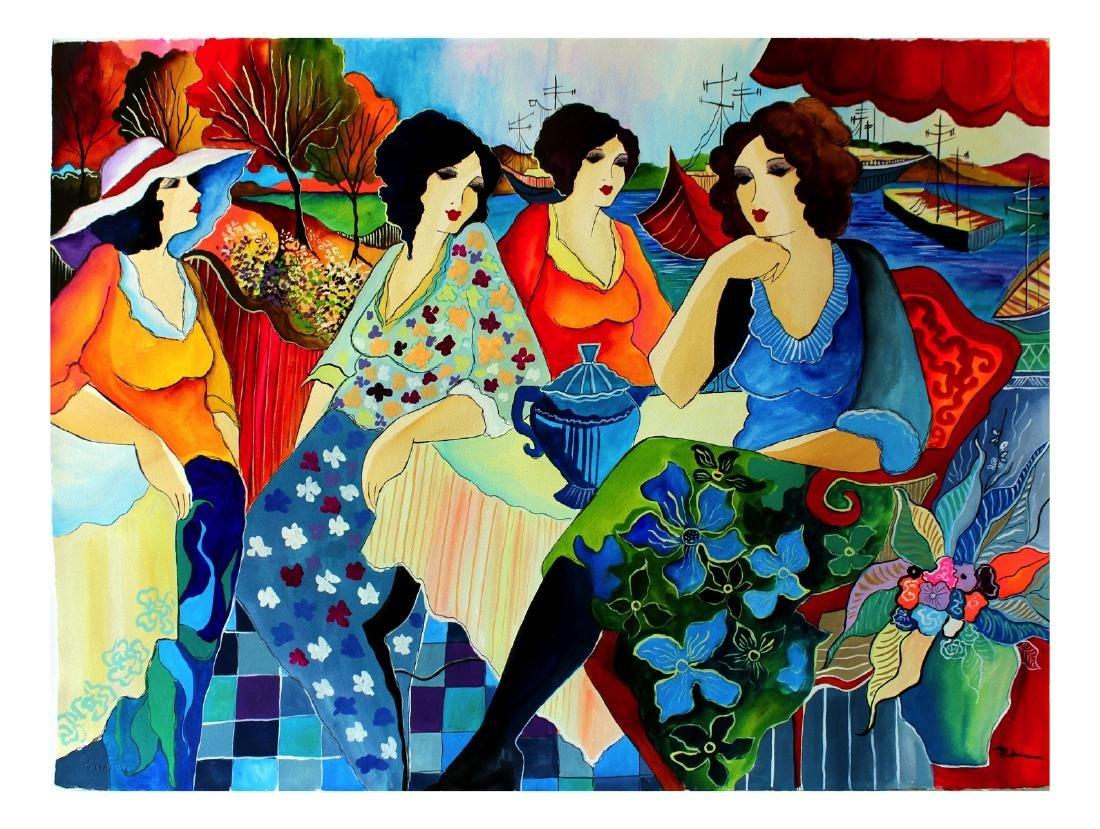 "Patricia Govezensky Original Watercolor 22x29"" COA"