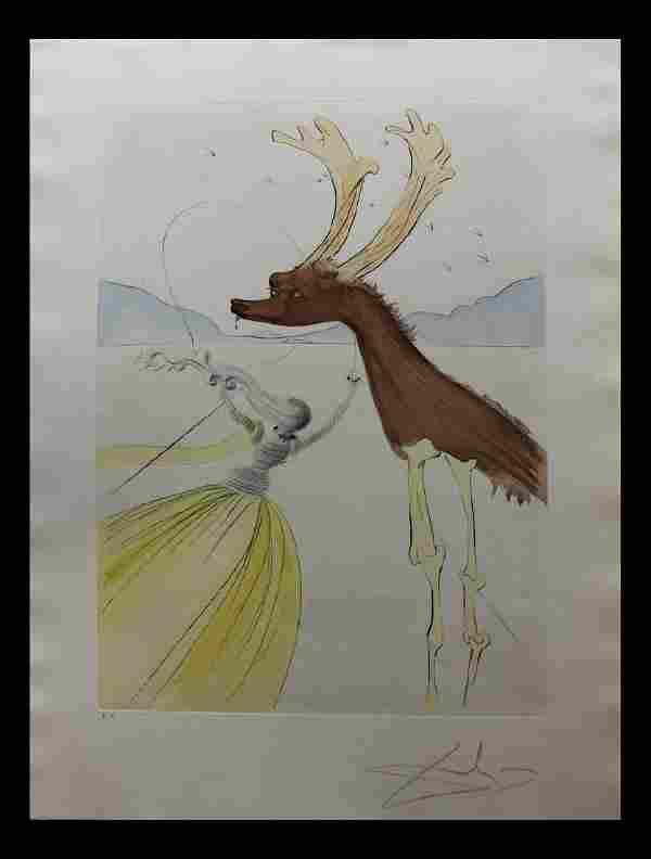 "Salvador Dali Original Intaglio ""Naphtali"" Twelve"
