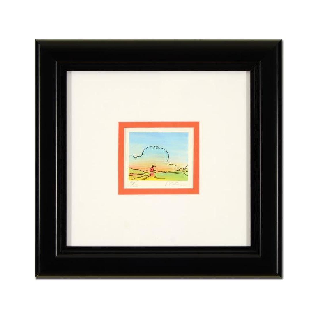 "Peter Max - ""Distant Sailboat"" Framed Limited Edition"