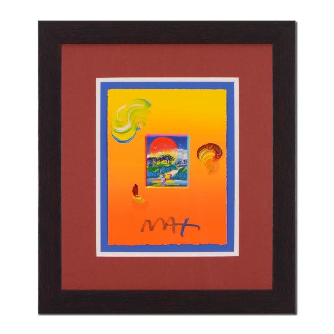 "Peter Max - ""Beyond Borders"" Framed One-Of-A-Kind"