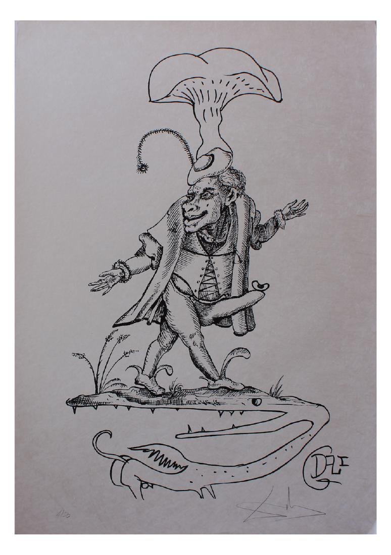 """Salvador Dali Original Lithograph """"Les Songes"""