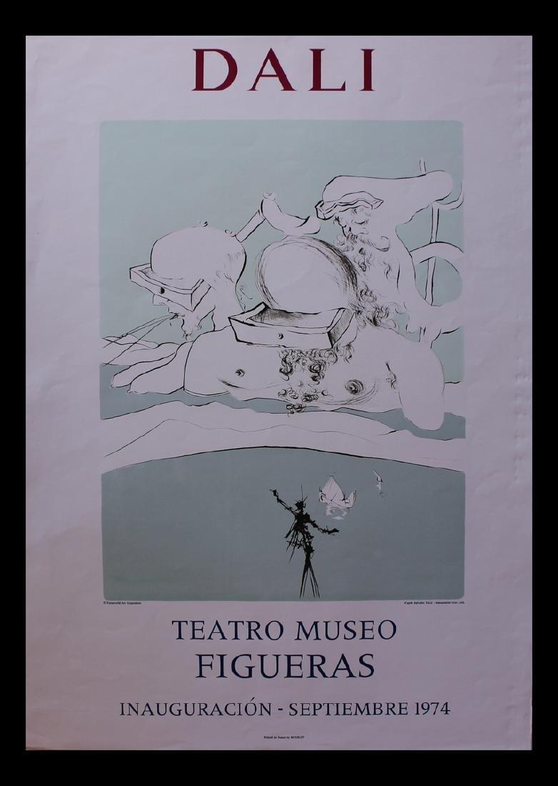 "Salvador Dali Headless Man Lithographic Poster 29x21"""