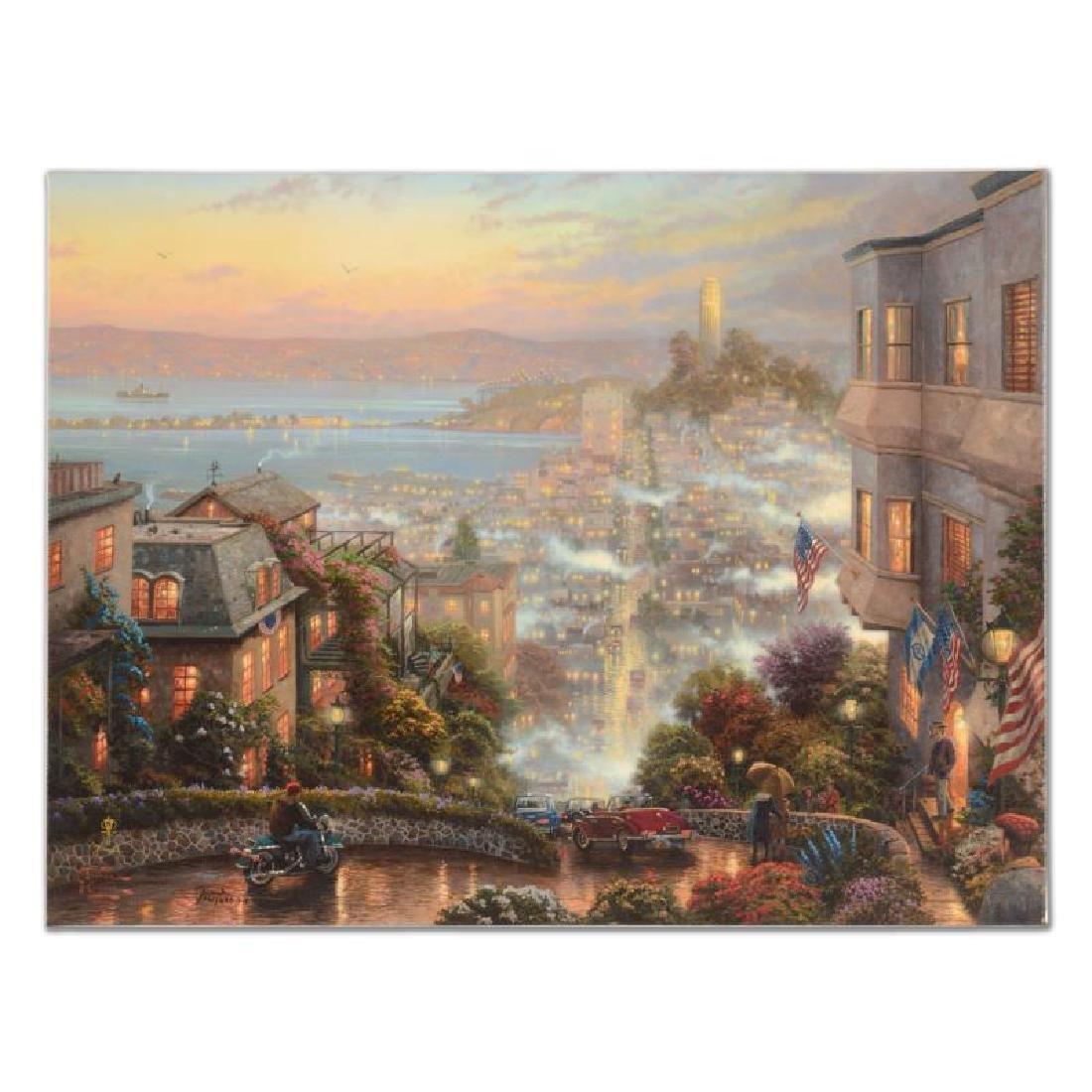 "Thomas Kinkade (1958-2012) - ""San Francisco Lombard"