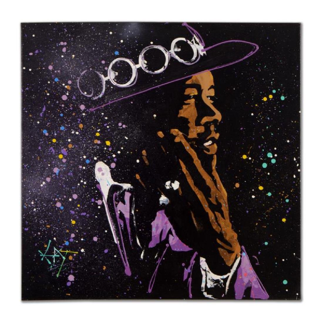 "KAT ""Jimi Hendrix - Purple Haze 2"" Original Acrylic"