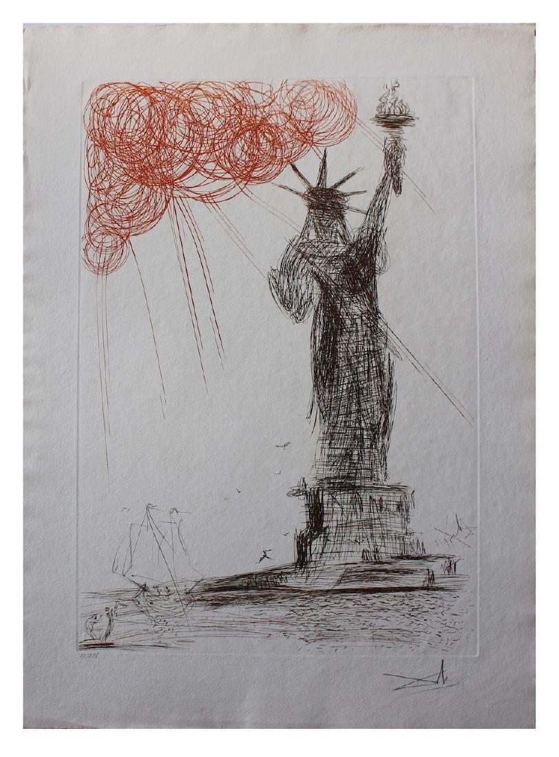 """Salvador Dali """"Statue of Libery"""" New York City Original"""