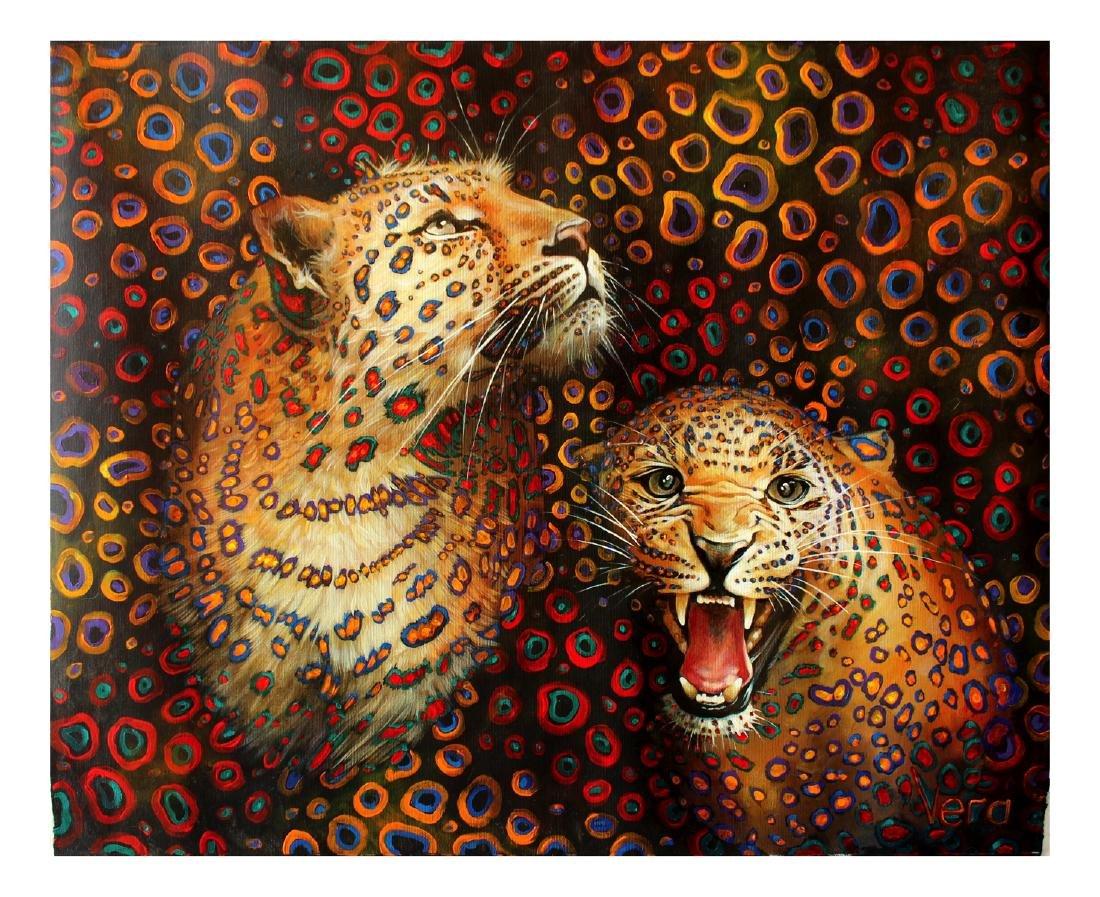 Vera V. Goncharenko Original Oil on Canvas Pop Art
