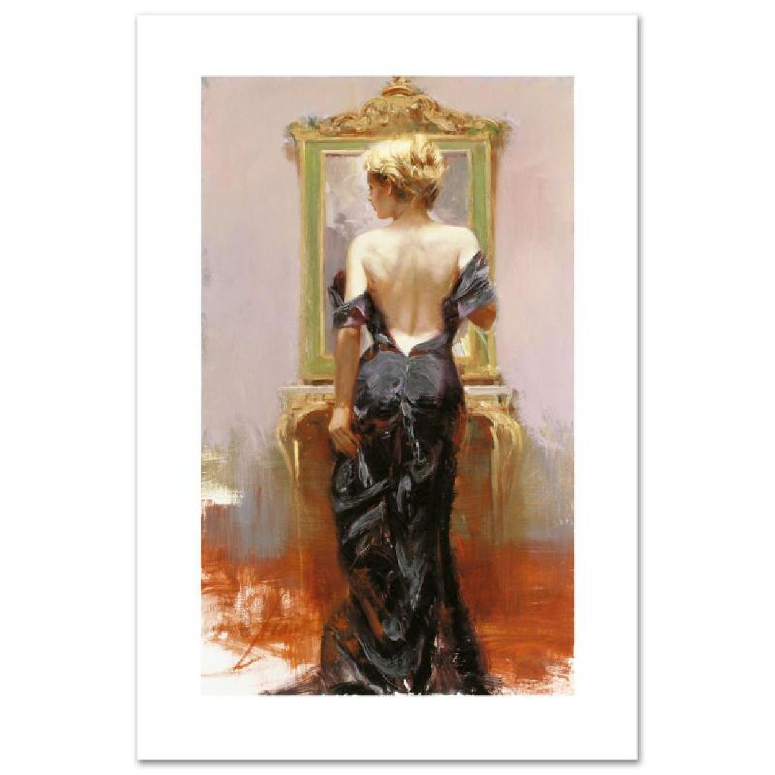"Pino ""Evening Elegance"" Embellished Giclee on Canvas LE"