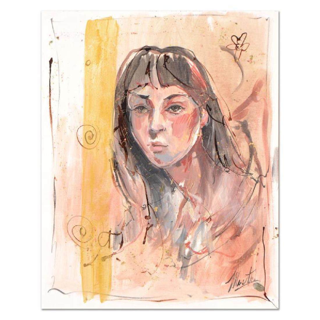 "Marta Wiley ""Study 1"" Original Acrylic Painting on"