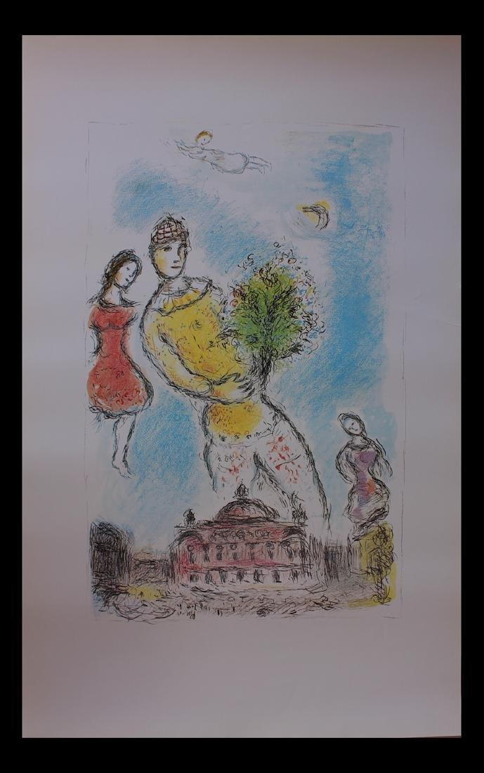 Marc Chagall, Dans Le Ciel De L'Opera, 1981 Offset