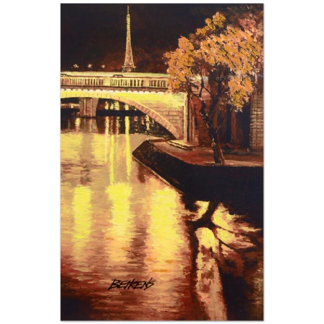 """Howard Behrens (1933-2014) - """"Twilight on the Seine, I"""""""