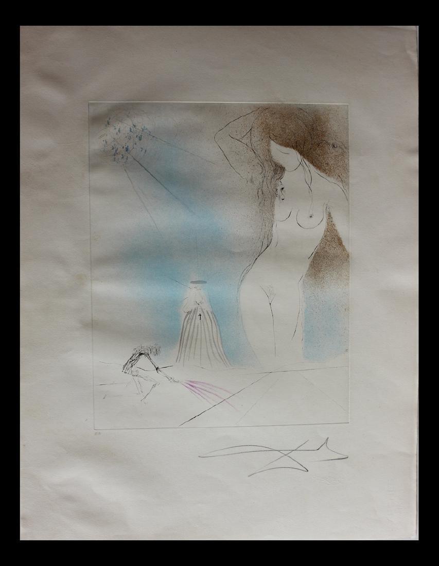 """Salvador Dali Original Etchings """"Nu"""" 70-6 (C) Don Juan"""