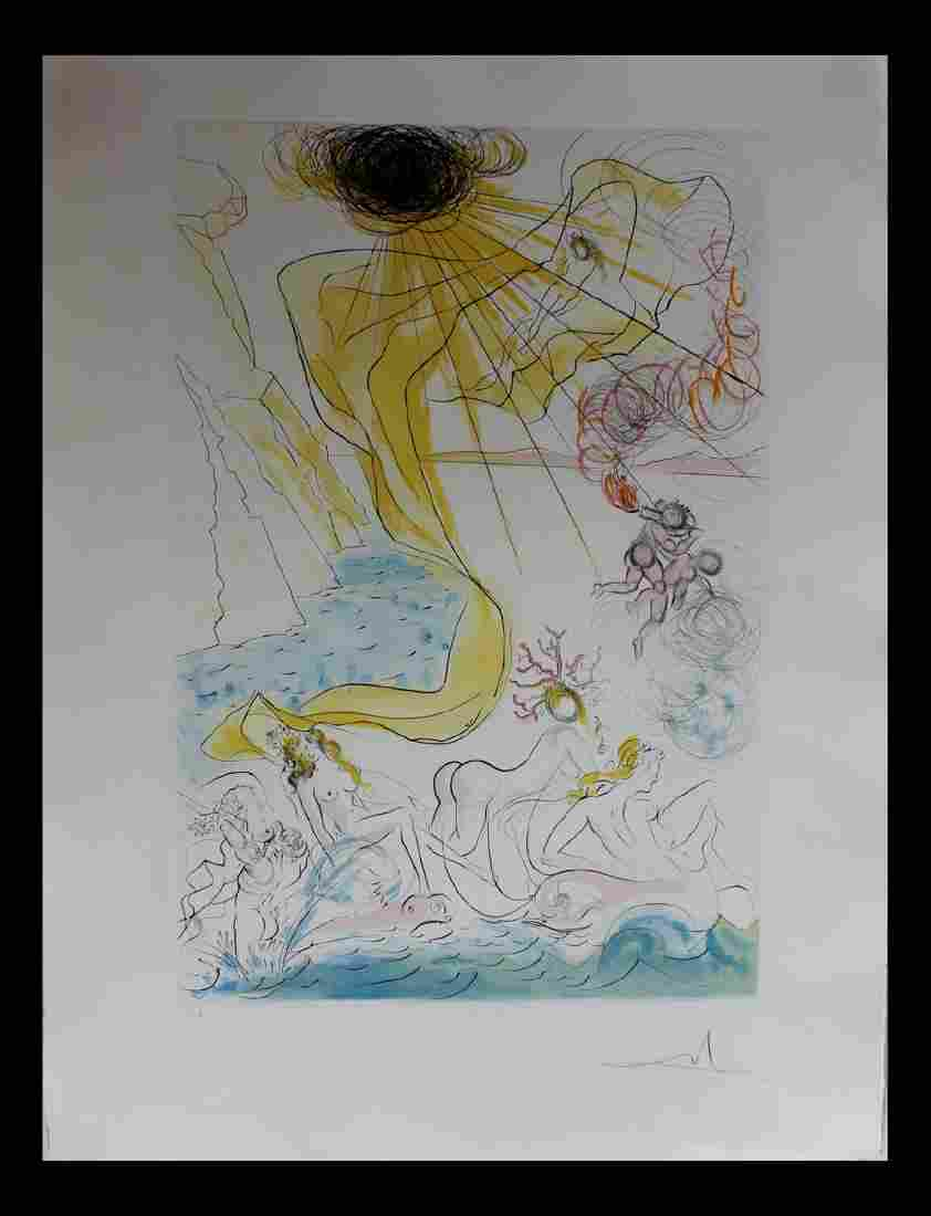 Salvador Dali Original Intaglio with COA Triomphe de