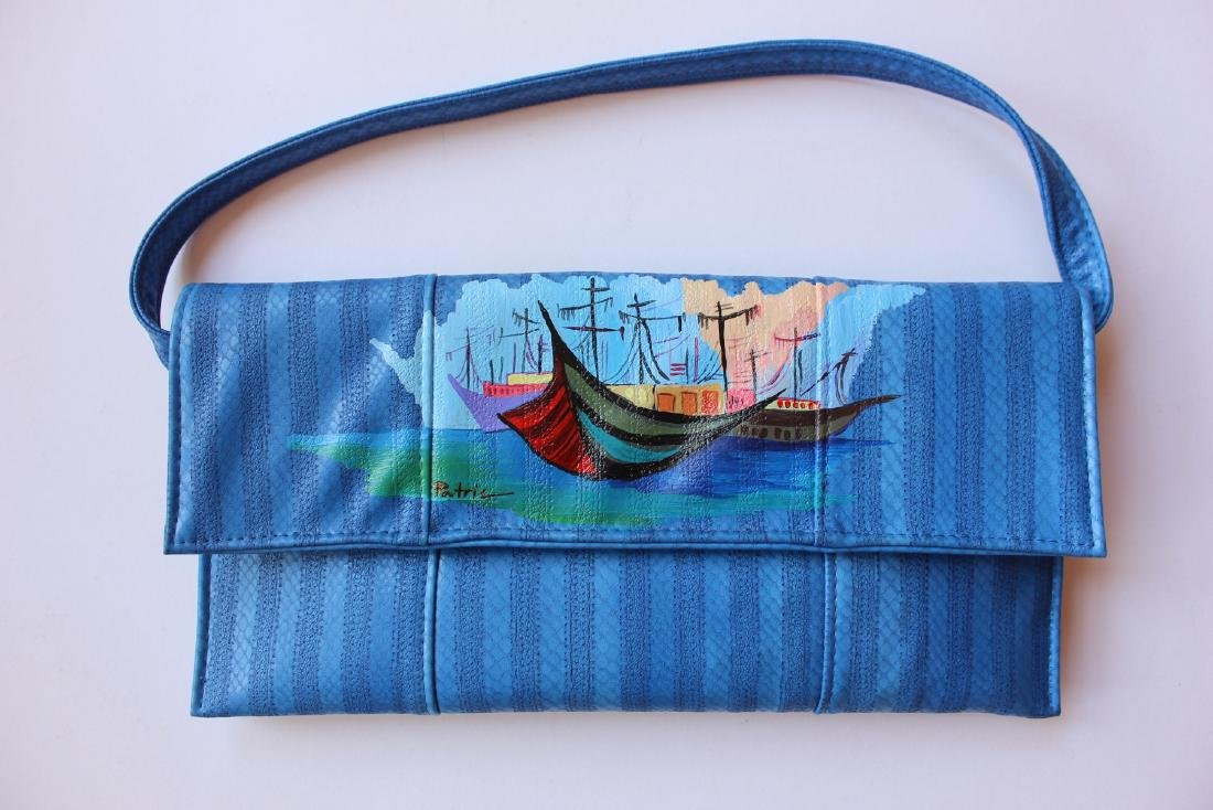 Patricia Govezensky Blue Purse Original Acrylic