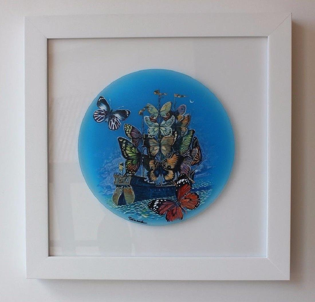 Surrealism Framed Ori. Acrylic Sculpture Eugene