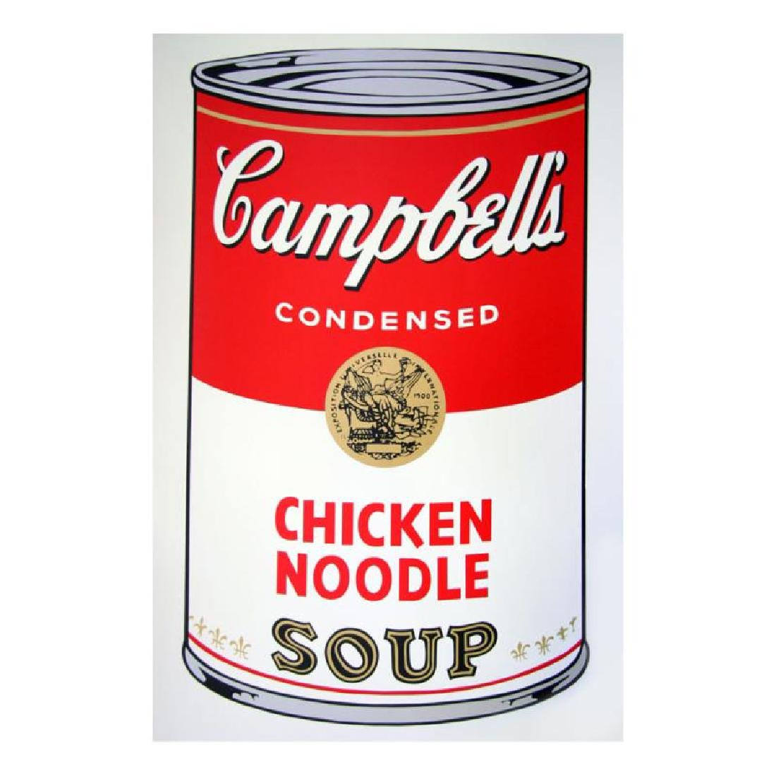 """Warhol, Andy """"Soup Can 11.45 (Chicken Noodle)"""""""