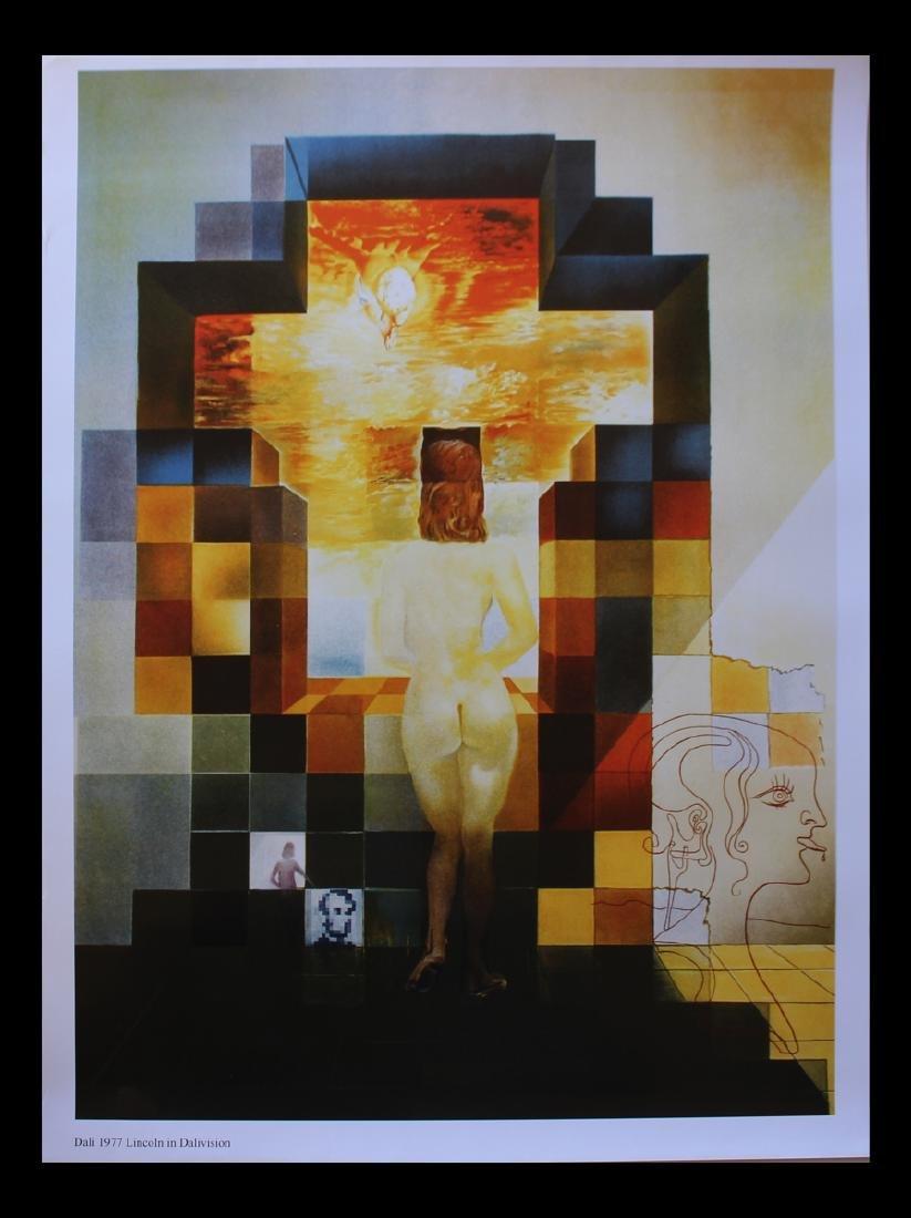 Salvador Dali Lithographic Poster Lincoln in Dalivision