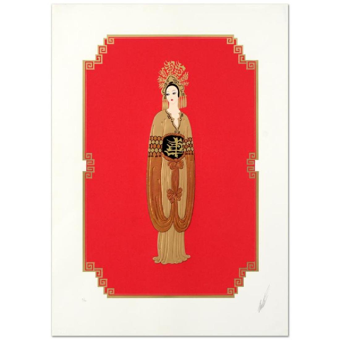 "Erte (1892-1990) ""Plum Blossom"" Limited Edition"