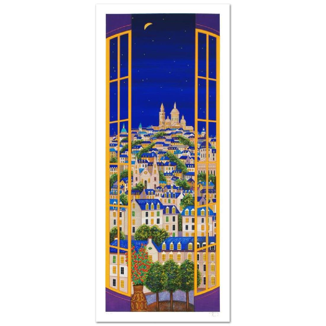 """Windows On Paris"" Limited Edition Serigraph by Fanch"