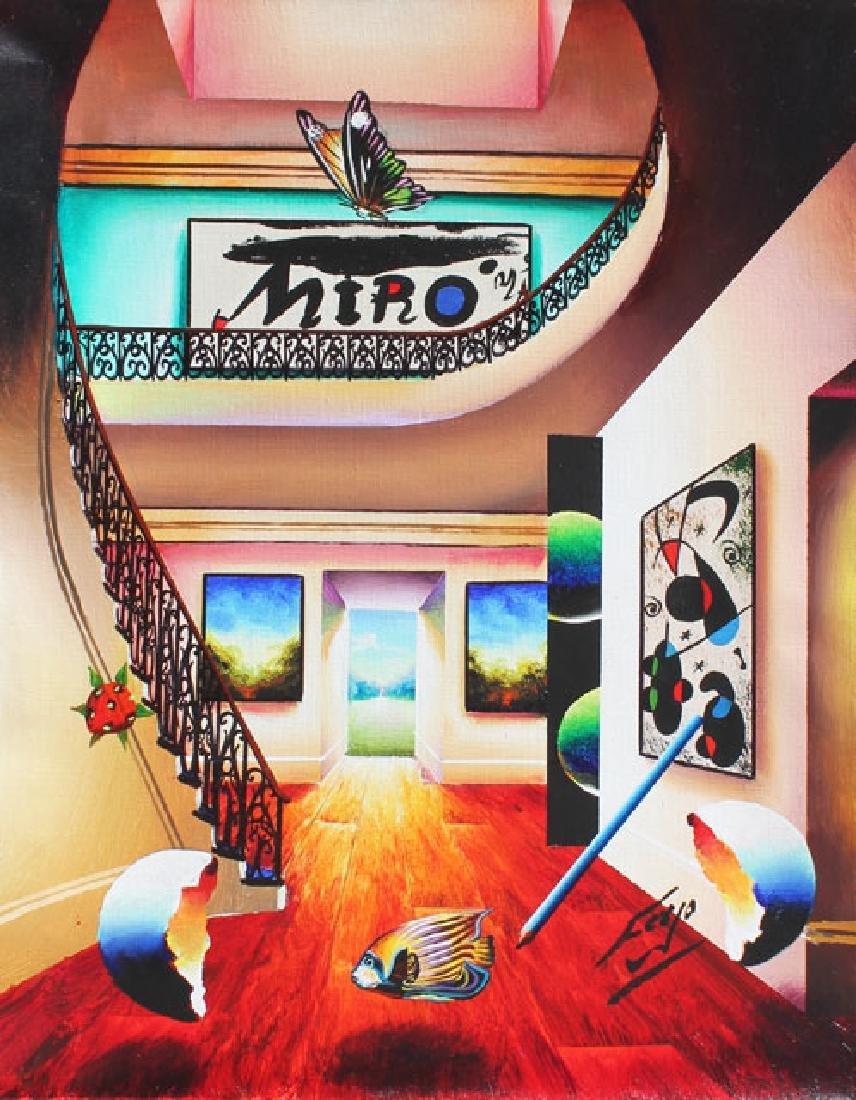 "Ferjo Giclee on Canvas ""Miro"" Rare List Price $300"
