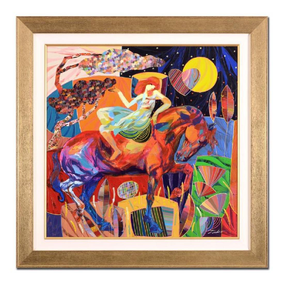"Tadeo ""Buen Oyente"" Framed Original Oil Painting on"
