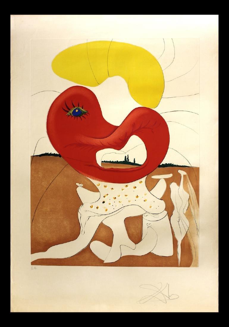 "Salvador Dali Original Engravings ""The blood of the yin"