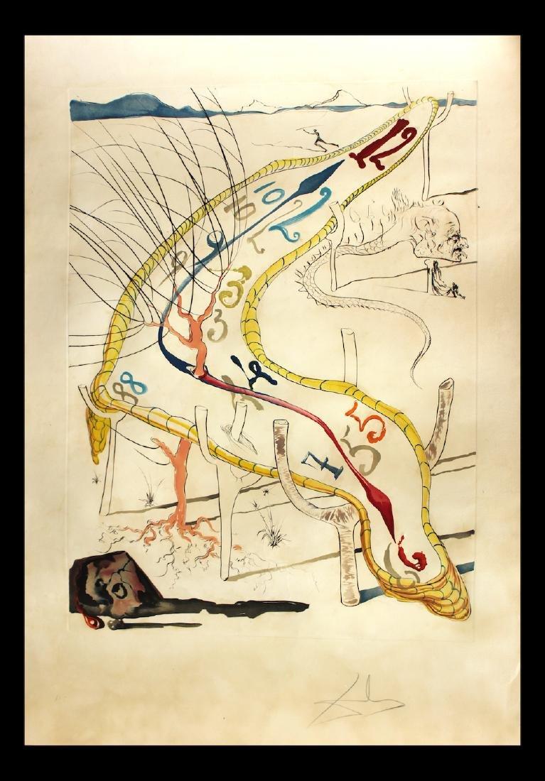 """Salvador Dali Scarce Original Engravings """"The Frozen"""