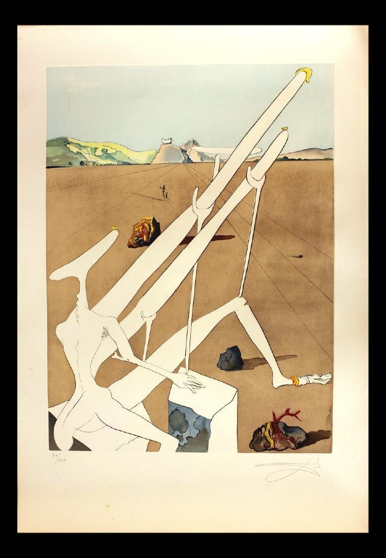 "Salvador Dali Original Engravings ""Martian Dali"