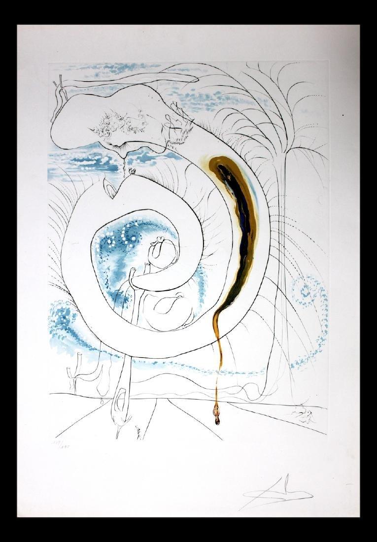 """Salvador Dali Original Engravings """"The Visceral Circle"""