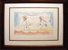 Salvador Dali- Les Dames HS/N Framed Original