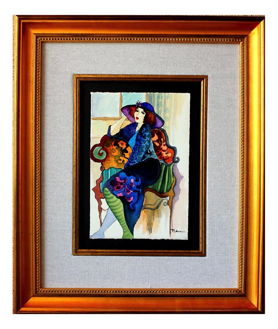 Patricia Govezensky Original Watercolor- Touch of