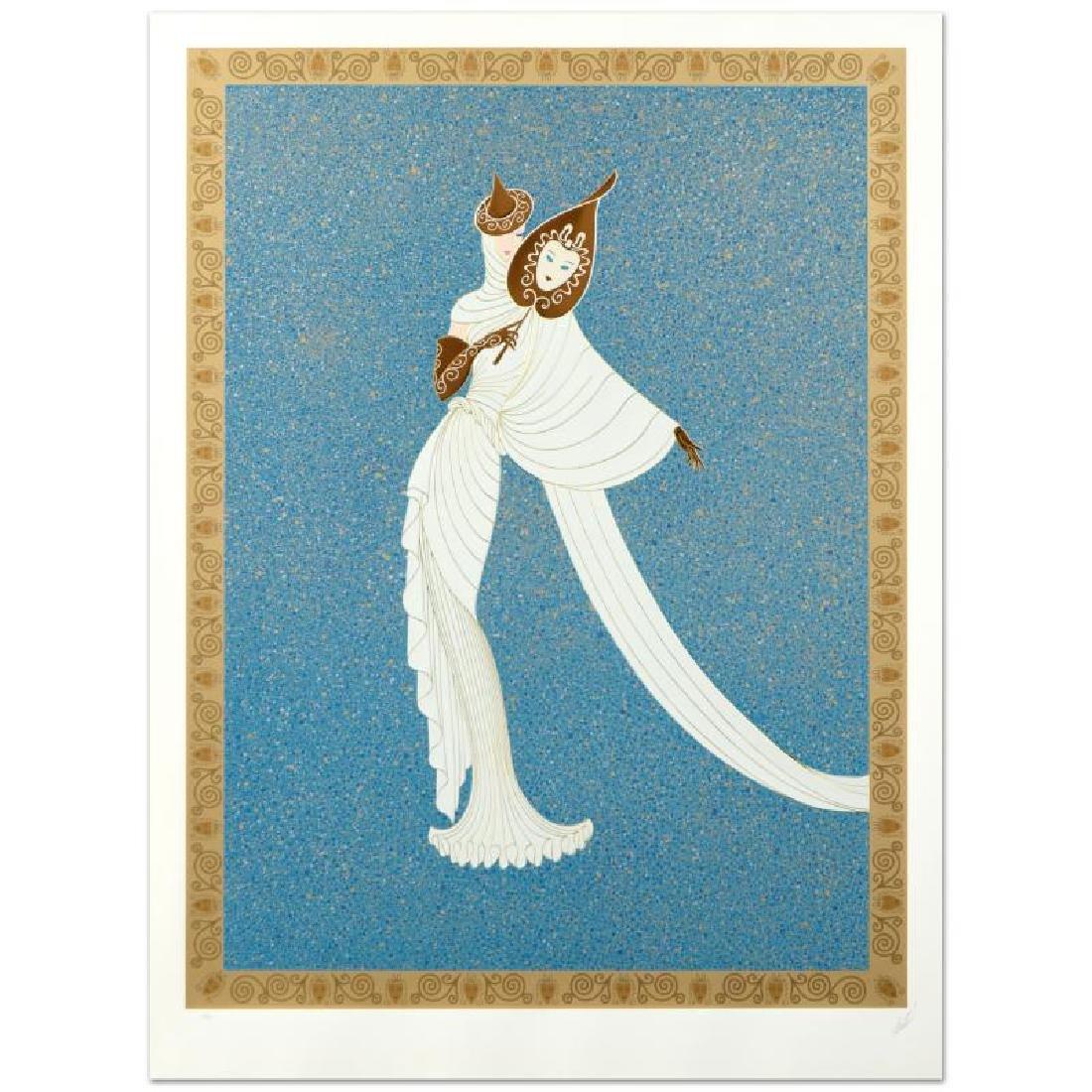 "Erte (1892-1990) ""Tanagra Turquoise"" SERIGRAPH"