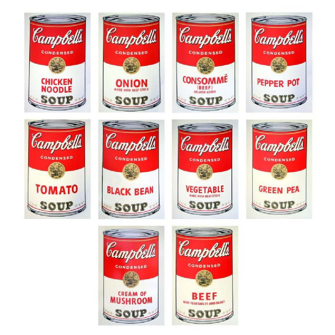"Andy Warhol ""Soup Can Series I"" Suite of 10"