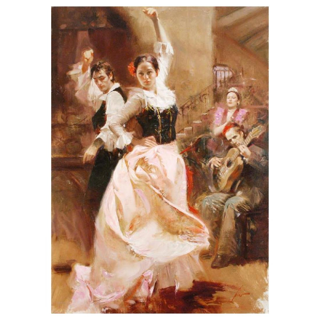"Pino (1939-2010) ""Dancing in Barcelona"" Giclee"