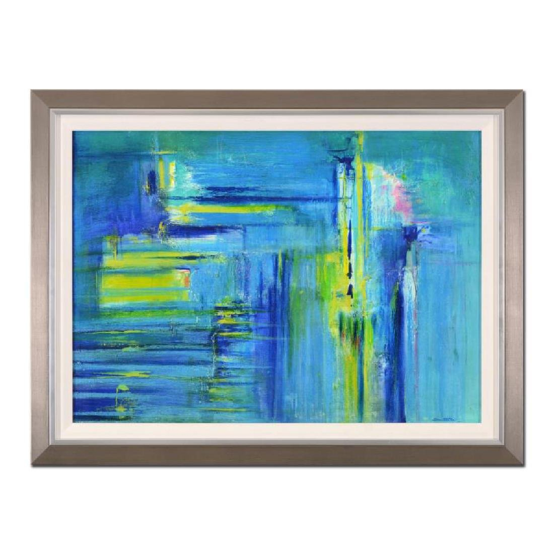 "Roberto Donatelli ""Sea Green"" Framed Original Painting"