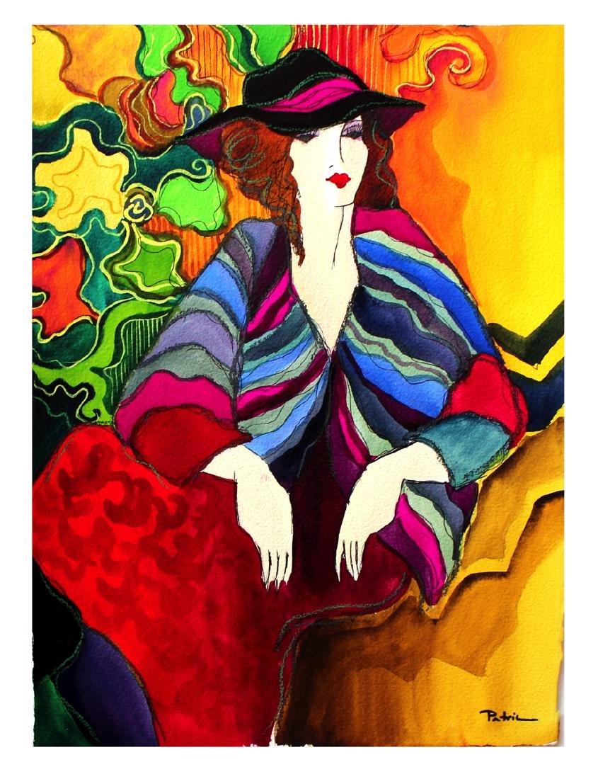 "Patricia Govezensky Original watercolor 14""h x 11""w"