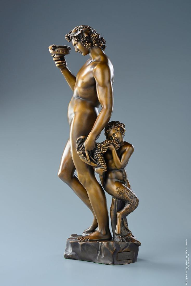 """Michelangelo """"Bacchus"""" Lost Wax Bronze Sculpture"""