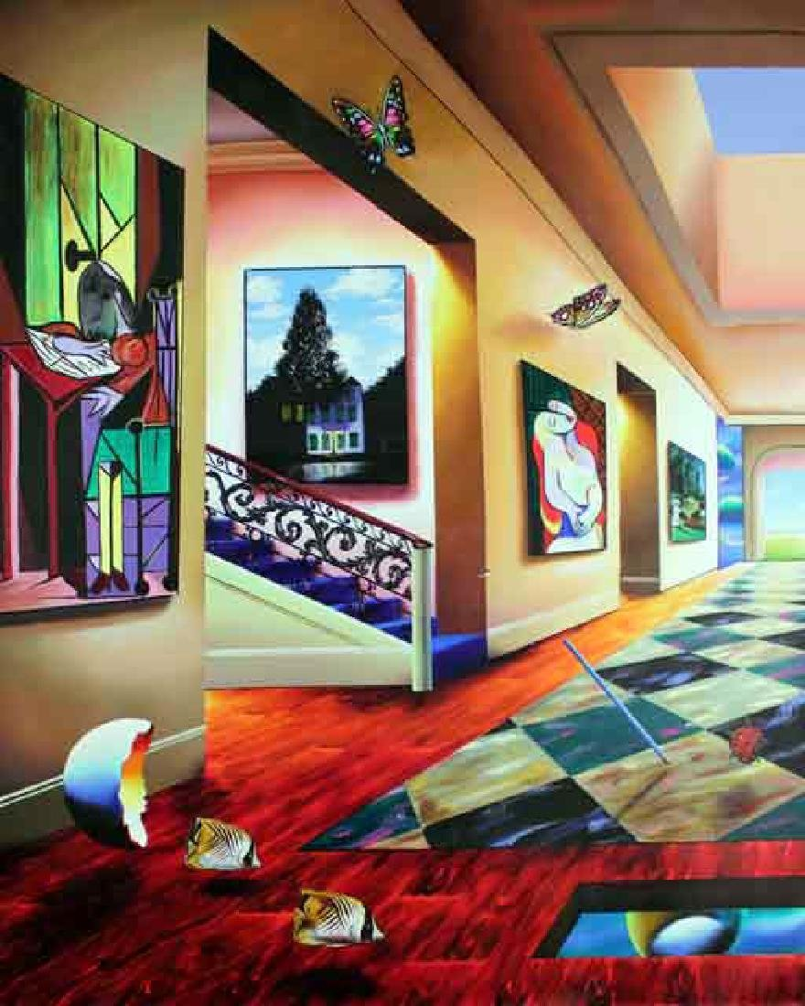 """Ferjo Giclee on Canvas """"Perfect Afternoon (Left)"""""""