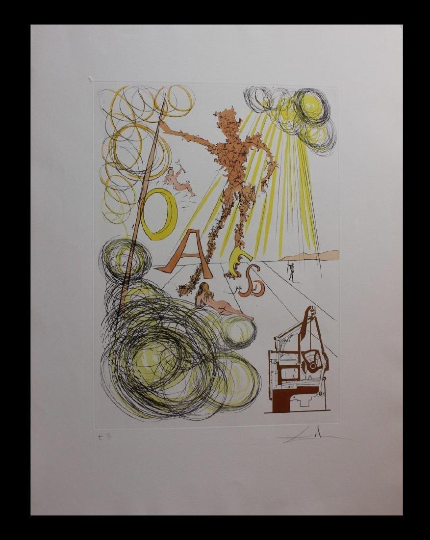 """Salvador Dali Engravings """"La Linotype"""" Leonardo da"""