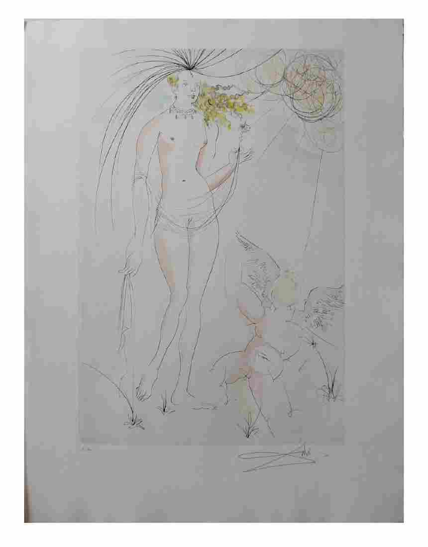 Salvador Dali Venus et l'Amour (Venus and Love)