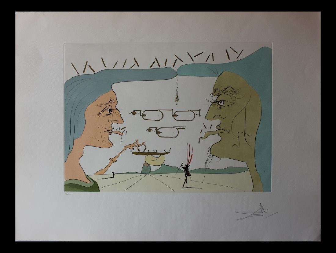 Salvador Dali Le telegraphe Original Engravings da