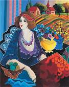 Patricia Govezensky Lady in Meadow Hand Signed