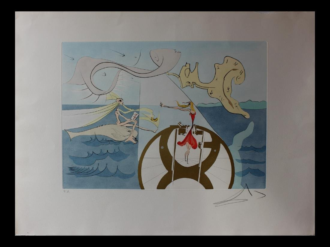 Salvador Dali La Machine a coudre 75-8 (D) Original