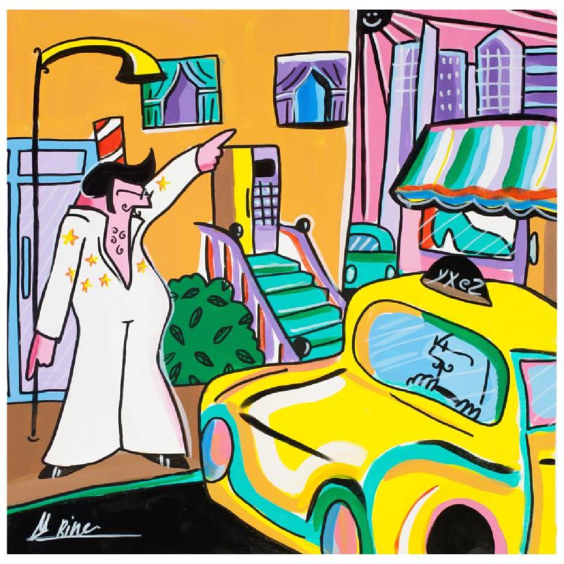 "Rina Maimon ""The King"" Original Acrylic Painting on"