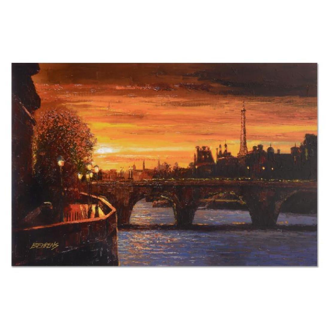 """Behrens (1933-2014) """"Twilight on the Seine II"""""""