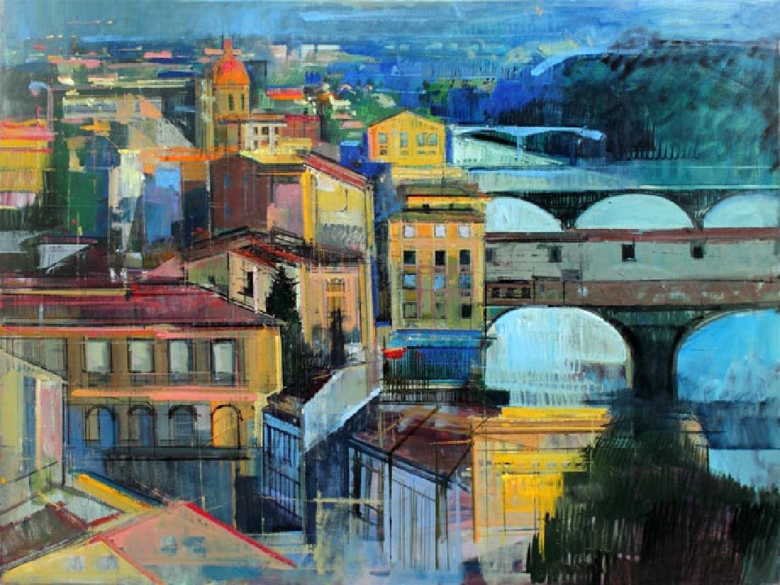 Alex Zwarenstein Giclee on Canvas Florence at Sundown
