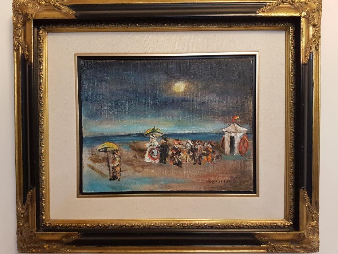 Yosl Bergner Oil on Canvas hand Signed with Certificate