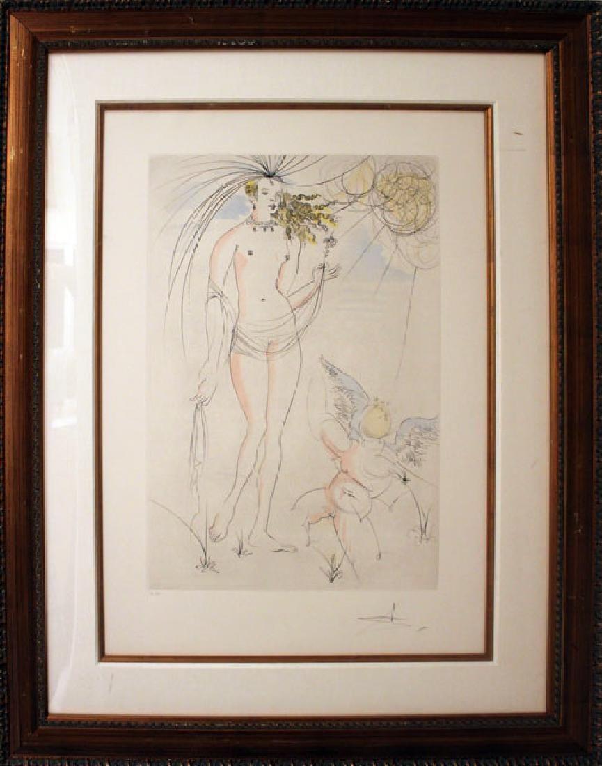 Salvador Dali - Venus et L' Amour   Hommage a Albrecht