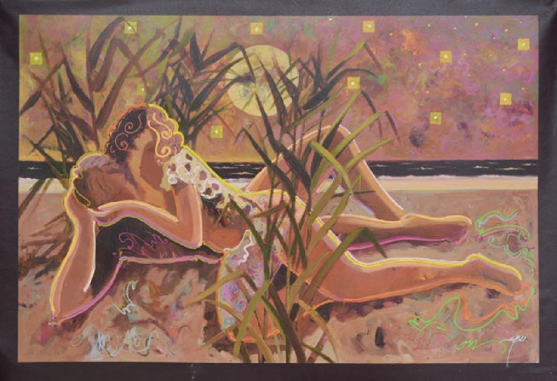 Sabzi- Do You Love Me Embelished Giclee on Canvas