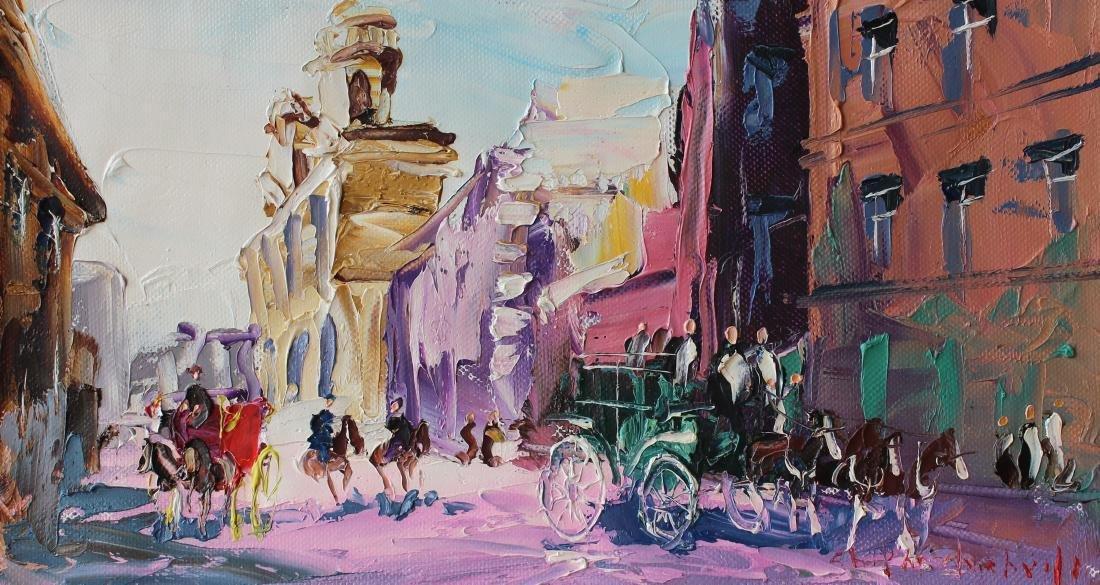 Shalva Phachoshvili- The Old City | Original oil on